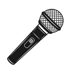 Microphone black object or design element vector