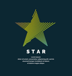modern colored logo star in a futuristic style vector image