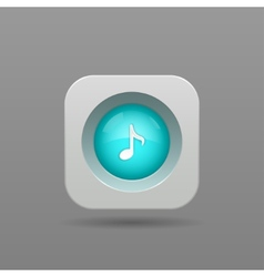 Music note button vector image