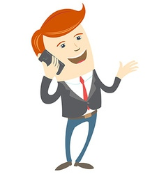 Office man phone talking vector image
