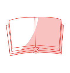 Opened book design vector