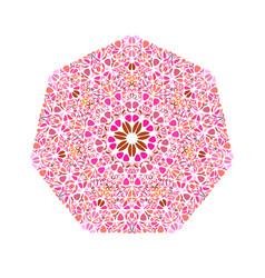 Ornate floral heptagon symbol - geometric vector