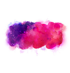 purple violet lilac and pink watercolor stains vector image