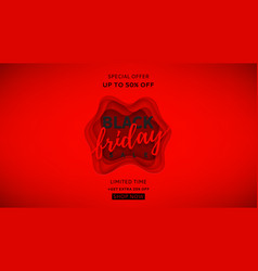 red banner for black friday sale vector image