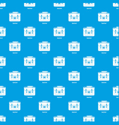 Satchel bag pattern seamless blue vector