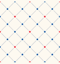 seamless geometric pattern with red and vector image