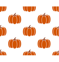 seamless pumpkin background isolated on white vector image