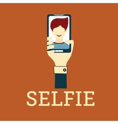 Selfie Photo flat design vector image