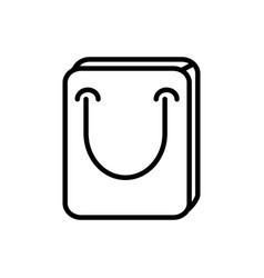shopping bag commercial delivery icon thick line vector image