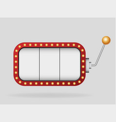 slot machine template vector image