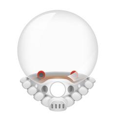 Spaceman astronaut cosmonaut helmet tantamareska vector