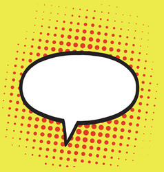 Speech bubble in pop art comics style retro vector