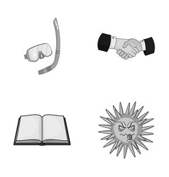 Sport educatio and other monochrome icon in vector
