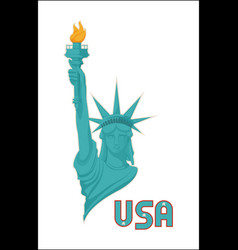 Statue of liberty usa national symbol vector