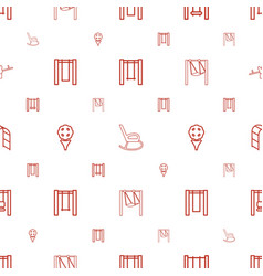 Swing icons pattern seamless white background vector