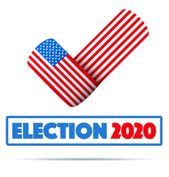 symbol usa election 2020 vector image