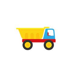 Truck batoy in flat design cartoon vector