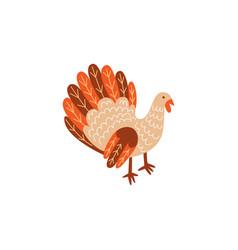turkey bird flat isolated vector image
