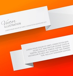 Two white sheets of paper on a red background vector image