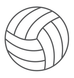 Volleyball thin line icon game and sport vector