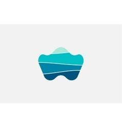 Wave logo Business Icon Blue logo Company logo vector