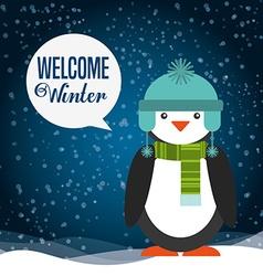 welcome winter design vector image