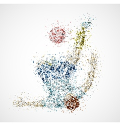 Abstract football player2 vector image