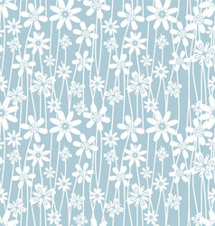 blue flower pattern vector image vector image