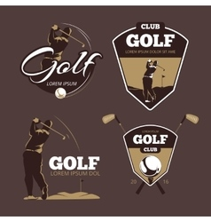 Golf country club logo templates vector