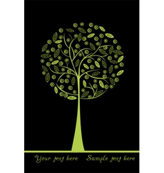 green stylized tree vector image vector image