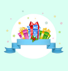 presents with ribbon vector image vector image