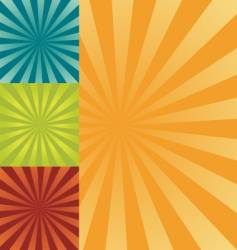 retro burst background vector image vector image