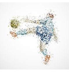 Abstract football player3 vector image vector image