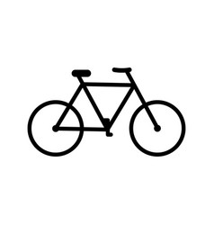 bicycle icon on white vector image vector image