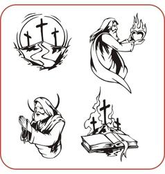 Christian symbols - vector image