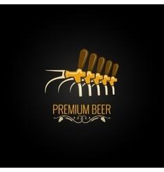 beer tap vintage ornate design background vector image