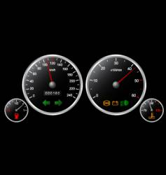 Car's dashboard vector image