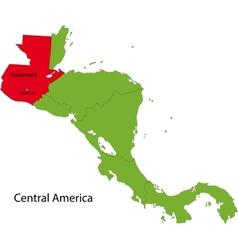 Guatemala map vector image vector image
