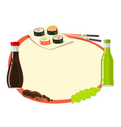 traditional japanese cuisine asian food vector image vector image