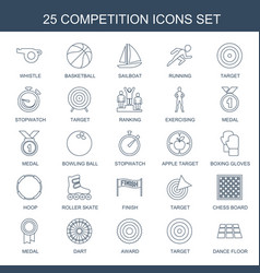 25 competition icons vector