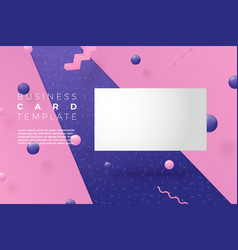 3d realistic business card abstract scene vector
