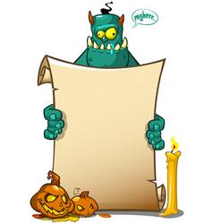A halloween monster vector