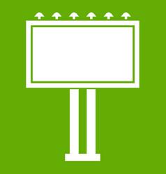 advertising billboard icon green vector image