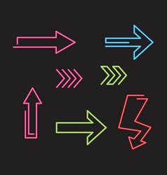 arrow neon glow vector image