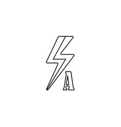 auto flash line icon vector image