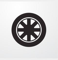Auto rim sign icon vector