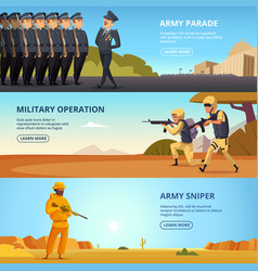 Banners set with military vector