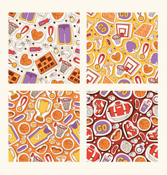 basketball seamless pattern sportswear and vector image