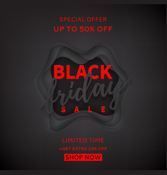black background for black friday sale vector image