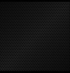 black metal texture background honeycomb pattern vector image